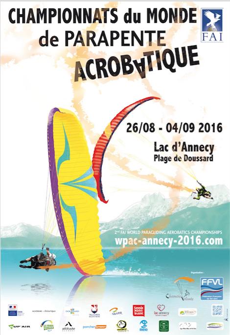 affiche officielle wpac championnats du monde de parapente acrobatique