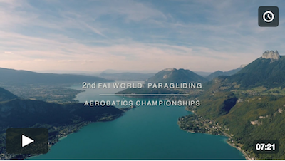 final report 2nd FAI World Paragliding Aerobatics Championships Lake Annecy 2016