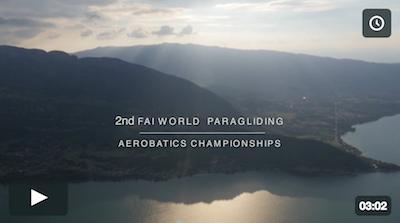 1st report 2nd FAI World Paragliding Aerobatics Championships Lake Annecy 2016